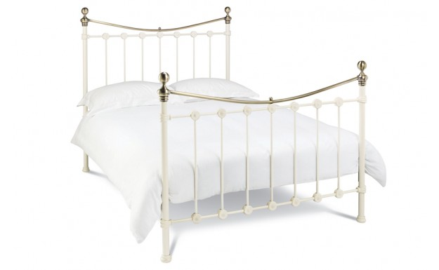 Bentley Designs Amelie Antique White Double Bed Frame - Online Beds ...