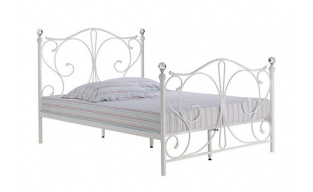 LPD Florence 5ft White Metal Bed Frame