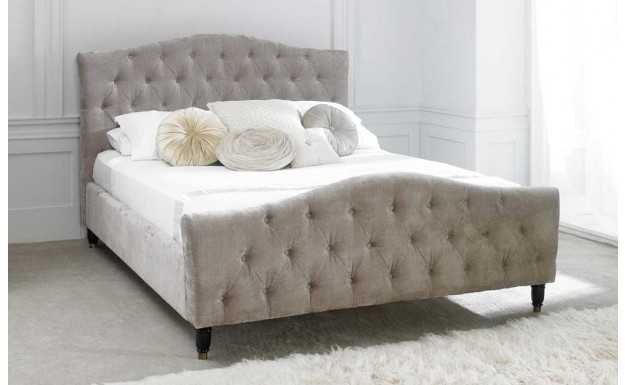 Buy the Limelight Phobos Mink King Size Fabric Bed Frame- £473