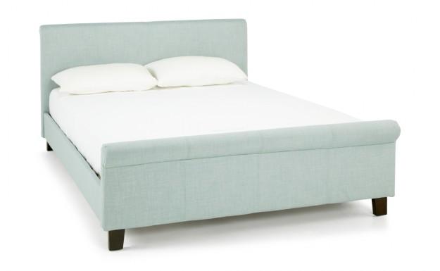 Serene Hazel Ice Fabric King Size Bed Frame