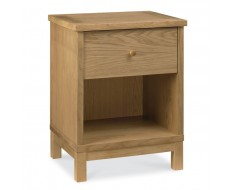 Bentley Designs Atlanta Oak One Drawer Bedside