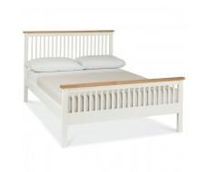 Bentley Designs Atlanta Two Tone Double ( 135cm ) High Footend Bed Frame