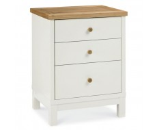 Bentley Designs Atlanta Two Tone Three Drawer Bedside