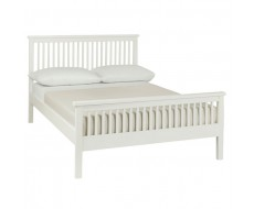 Bentley Designs Atlanta White Double ( 135cm ) High Footend Bed Frame
