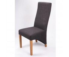 Shankar Baxter Charcoal Fabric Dining Chair