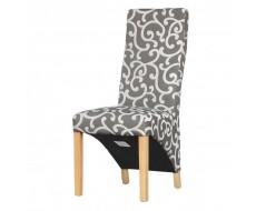 Shankar Baxter Scroll Charcoal Dining Chair - Front