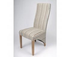 Shankar Baxter Stripe Duck Egg Dining Chair - Front