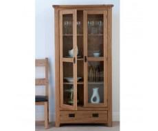 Cabos Solid Oak Glazed Display Cabinet