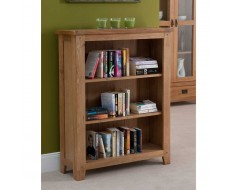 Cabos Solid Oak Low Bookcase