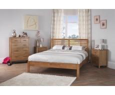 Serene Esther Honey Oak Double Hevea Bed Frame