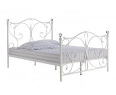 Florence White Metal Bedframe