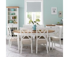 Bentley Designs Hampstead Two Tone Small Table with 4 Chairs