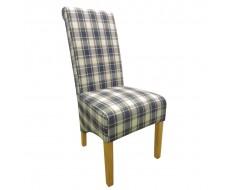 Shankar Krista Herringbone Denim Check Dining Chair