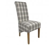 Shankar Krista Herringbone Cappuccino Check Dining Chair