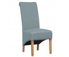 Shankar Krista Denim Herringbone Fabric Dining Chair