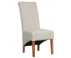 Shankar Krista Cappuccino Fabric Herringbone Dining Chair