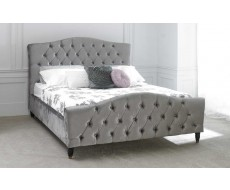 Limelight Phobos Silver Super King Size Fabric Bed Frame
