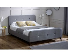 Limelight Tucana Ash Grey King Size Fabric Bed Frame