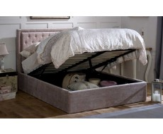 Limelight Rhea Storage Silver Super King Fabric Bed Frame