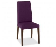 Bentley Designs Miles Walnut Plum Fabric Dining Chair