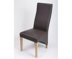 Modima Brown Madras Leather Dining Chair
