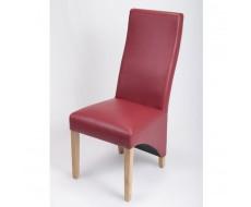 Modima Burgundy Madras Leather Dining Chair