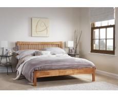 Serene Mya Honey Oak Double Hevea Bed Frame