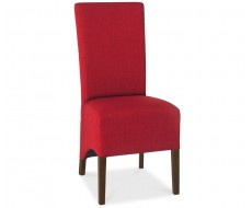Bentley Designs Nina Walnut Wing Back Red Fabric Dining Chair