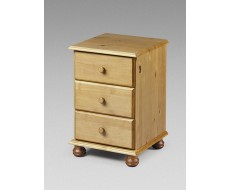 Julian Bowen Pickwick 3 Drawer Bedside Chest