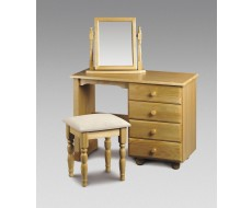 Julian Bowen Pickwick Dressing Table With Stool & Mirror