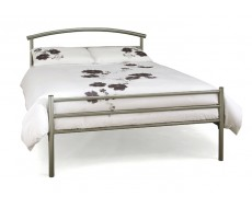 Serene Brennington Silver King Size Metal Bed Frame
