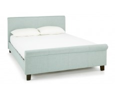 Serene Hazel Wholemeal Fabric Double Bed Frame