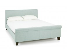 Serene Hazel Plum Fabric Small Double Bed Frame