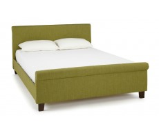 Serene Hazel Olive Fabric Double Bed Frame