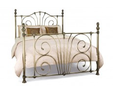 Serene Jessica Brass Small Double Metal Bed Frame