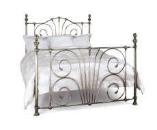 Serene Jessica Nickel Small Double Metal Bed Frame