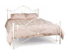 Serene Lyon Ivory King Size Metal Bed Frame