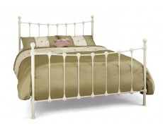 Serene Marseilles Ivory Double Metal Bed Frame
