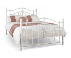 Serene Nice White King Size Metal Bed Frame