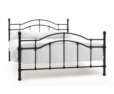Serene Paris Black Double Metal Bed Frame