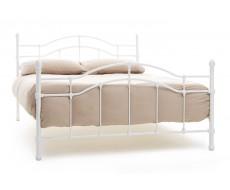 Serene Paris White King Size Metal Bed Frame