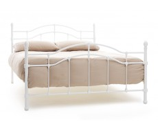Serene Paris White Small Double Metal Bed Frame