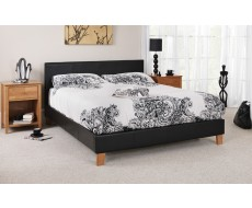 SereneTivoli Black Faux Leather King Size Bed Frame