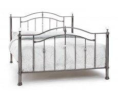 Serene Ashley Black Nickle Small Double Metal Bed Frame