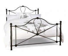 Serene Lyon Black Small Double Metal Bed Frame